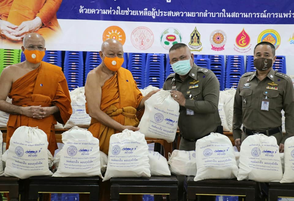 Phra Dhammarattanaborn, Chief monk of Patumthani Province, Thailand  and WAB Honorary President supported during COVID 19 pandemic