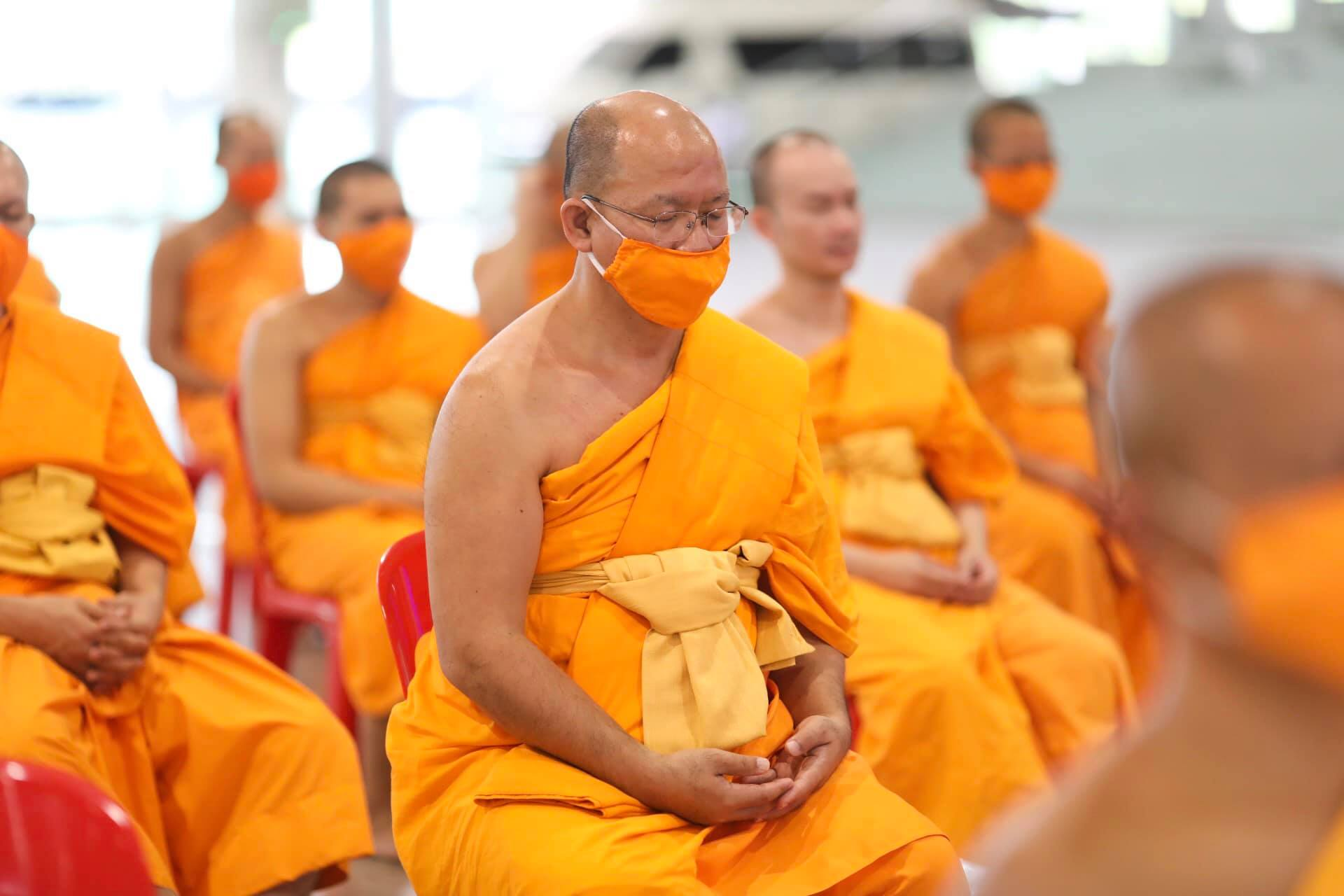 The Robe Offering Ceremony on Dhammachai Day, 27 Aug 2020